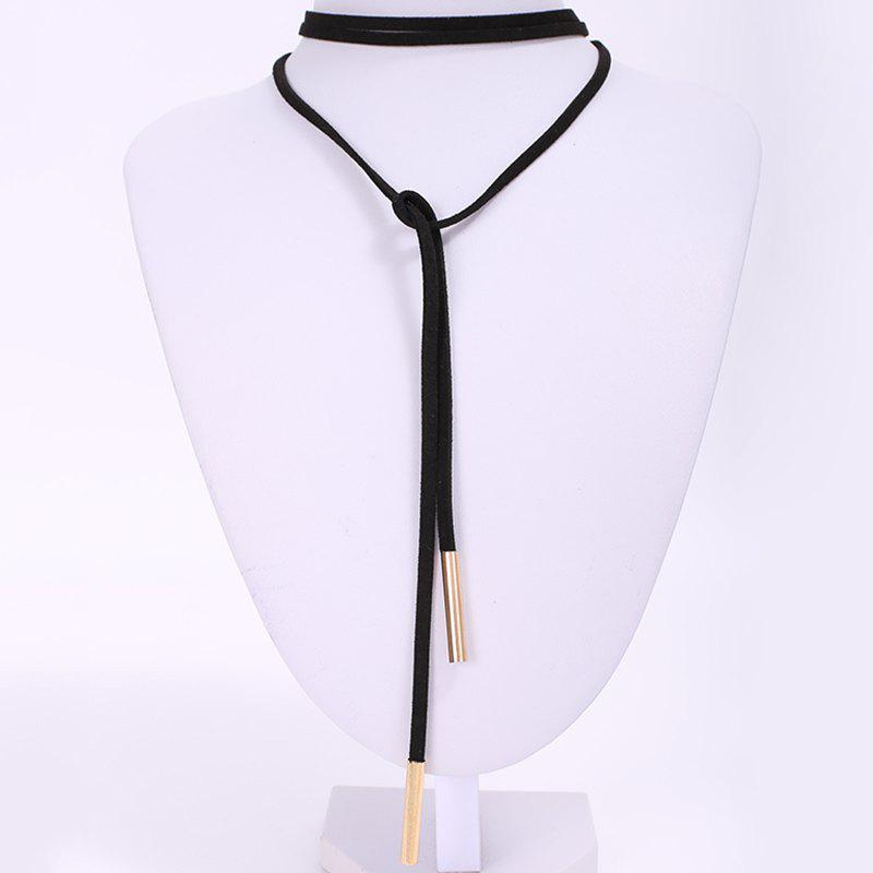 Fancy Chic Faux Leather Adjustable Sweater Chain For Women