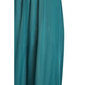 Stylish Round Neck Sleeveless Color Block Women's Maxi Dress -