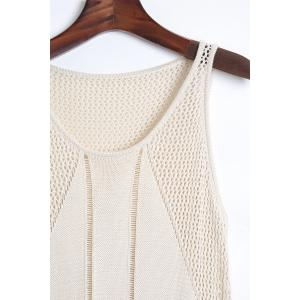 Stylish Scoop Neck Sleeveless Solid Color Knit Women's Cover Up -