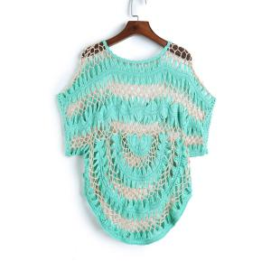Short Sleeve Crochet Cover Up -