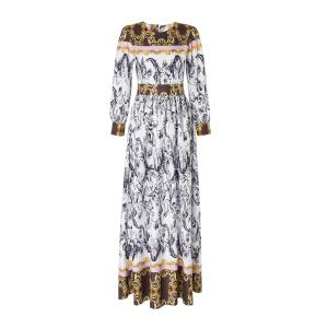 Maxi Abstract Printed Long Sleeve Dress