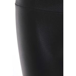Fashionable Solid Color Fitted Legging For Women - BLACK ONE SIZE(FIT SIZE XS TO M)