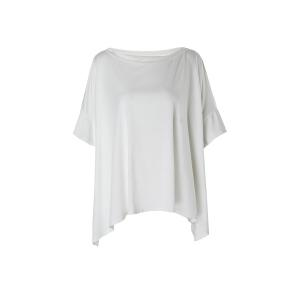 Fashionable One Shoulder Solid Color 3/4 Sleeve T-Shirt For Women