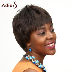 Fluffy Adiors Short High Temperature Fiber Wig For Women -