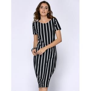 Stripe Sheath Dress -