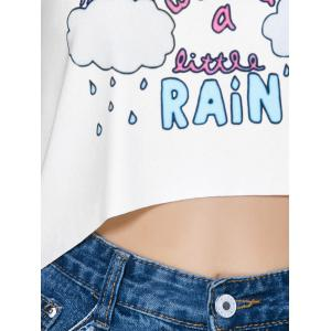 Graphic High Low Tank Top -