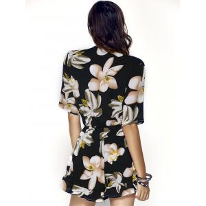Trendy V-Neck Floral Print Slimming Women's Romper -