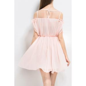 Ruffles Solid Color Pleated Dress -