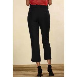 Mid-Waisted Straight Leg Pants -
