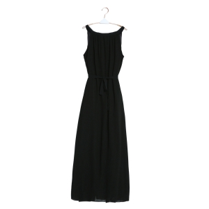 Sleeveless Maxi Chiffon Beach Swing Dress