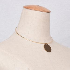 Round Adjustable Necklace - GOLDEN