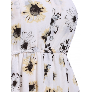Stylish Strappy Floral Print Romper For Women -