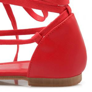 Casual Lace-Up and Color Block Design Sandals For Women -