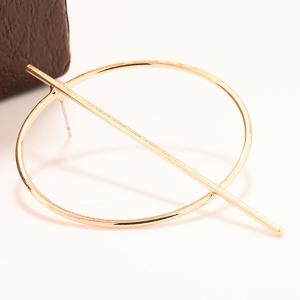 Pair of Statement Stick Circle Earrings -
