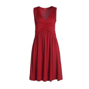 Empire Waist Plunge Night Out Party Dress