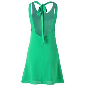 Backless Mini Summer Dress - GRASS GREEN S
