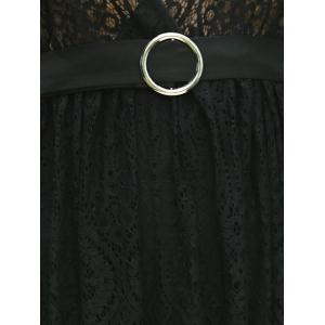 Trendy Plunging Neck Sleeveless Backless Lace Dress For Women -