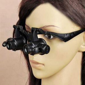 4 x Lens Adjustable Loupe Headband Magnifying Glass with LED Light For Jeweler Watch Repair -