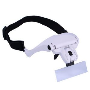 Eyeglasses Bracket Interchangeable Magnifier with 2 LED For Reading Jeweler Watch Repairing -