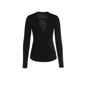 Chic Lucky Lace Up Women's Top -