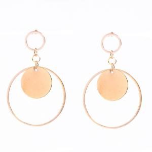 Pair of Alloy Circle Round Earrings