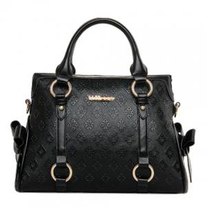 Elegant Embossing and Bow Design Tote Bag For Women