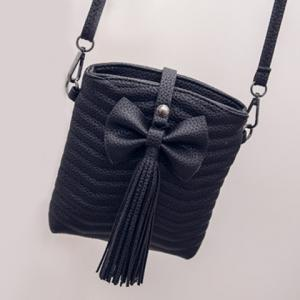 Stylish Bow and Tassels Design Crossbody Bag For Women -