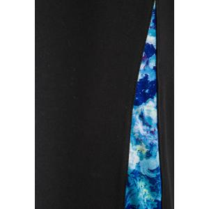 Active Spliced Blue Floral Print Skinny Capris -