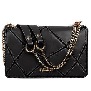 Stylish Geometric and Chains Design Crossbody Bag For Women