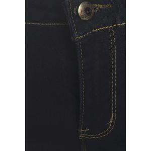 Stylish Mid-Waisted Spliced Slimming Pocket Design Women's Jeans -