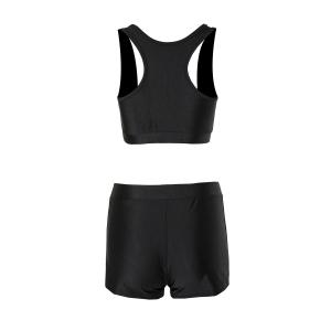 Sexy Sleeveless Solid Color Two-Piece Women's Swimsuit -