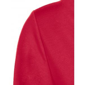 Sexy One Shoulder 3/4 Sleeve Red T-Shirt For Women - RED S