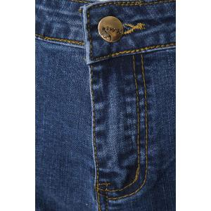 Stylish Mid-Waisted Boot Cut Deep Blue Women's Jeans -