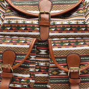 Ethnic Style Buckles and Geometric Print Design Satchel For Women -