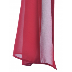 Fashionable Chiffon Pure Color Top For Women - DEEP RED S