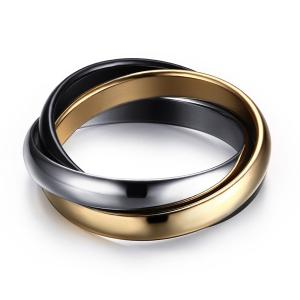 Cool Polished Tricyclic Finger Ring