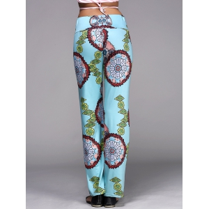 Wide Leg Womens Exumas Pants - LAKE BLUE XL