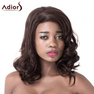 Attractive High Temperature Fiber Adiors Curly Long Women's Wig