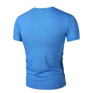 Round Neck Abstract Print Short Sleeves T-Shirt For Men -
