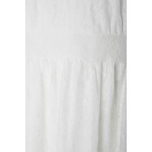 Élégant sans manches à encolure en V dentelle Plus Size Dress For Women - Blanc 2XL