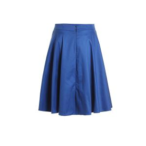 High Waist Solid Color A-Line Ball Circle Skater Skirt -