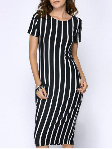 Fashion Stripe Sheath Dress
