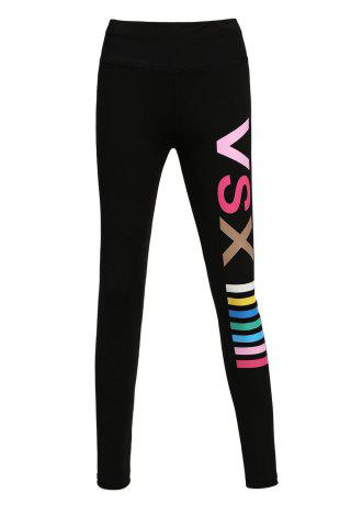 Cheap Active Colored Letter Print Yoga Pants For Women