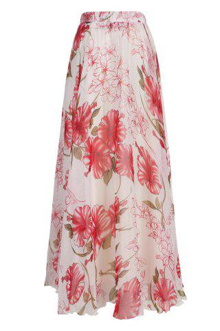 Chic Stylish Elastic Waist Floral Print Chiffon Skirt For Women