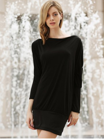 Store Long Zipper Embellished Long Sleeve T-Shirt - ONE SIZE BLACK Mobile
