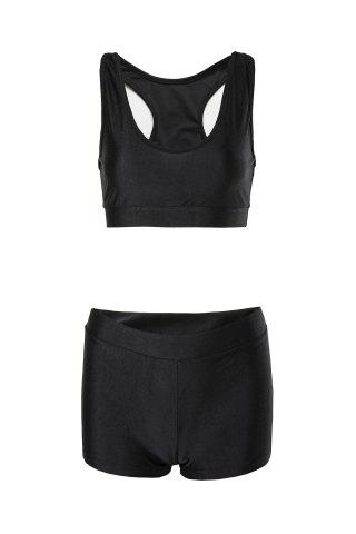 Trendy Sexy Sleeveless Solid Color Two-Piece Women's Swimsuit