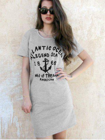 Discount Hooded Casual Letter Print Short Sleeve Women's Dress