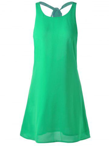 Trendy Backless Mini Summer Dress GRASS GREEN S