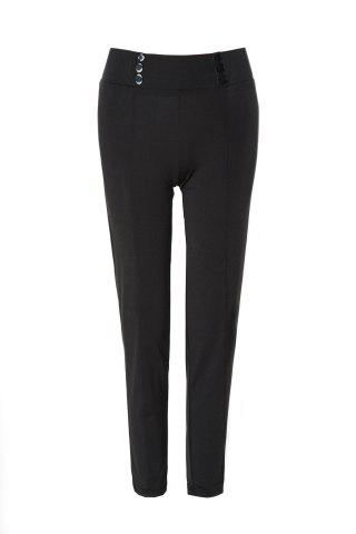 Discount Stylish Mid-Waisted Button Embellished Slimming Women's Pants