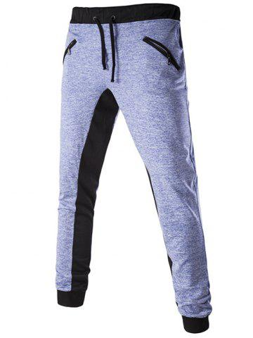 Outfits Casual Color Block Lace Up Jogger Pants